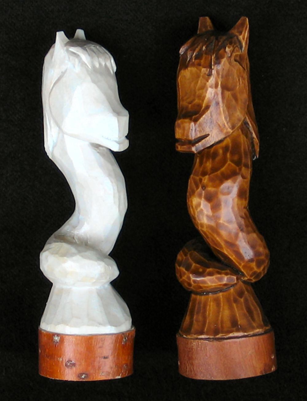 paard schaakspel hout